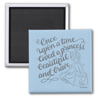 Belle  Once Upon A Time Square Magnet