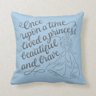 Belle |Once Upon A Time Throw Pillow