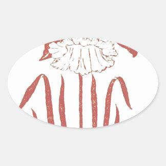 Belle Oval Sticker