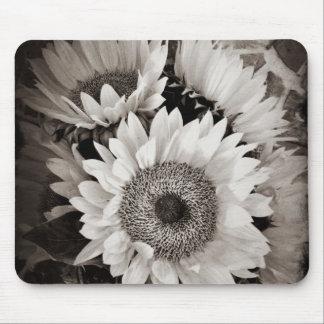 Belle photo de bouquet de tournesol dans noir et l tapis de souris