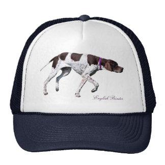 Belle photo de chien anglais d'indicateur, chapeau casquette trucker