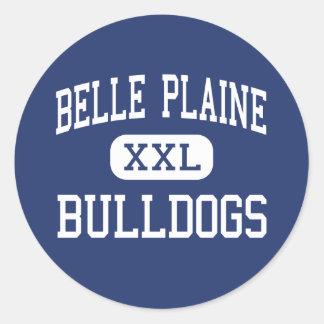 Belle Plaine Bulldogs Middle Belle Plaine Round Sticker