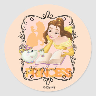 Belle | Play It Forward Princess Classic Round Sticker