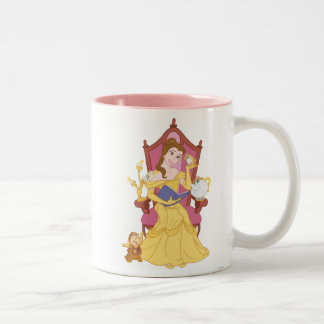 Belle Reading to Friends Two-Tone Coffee Mug