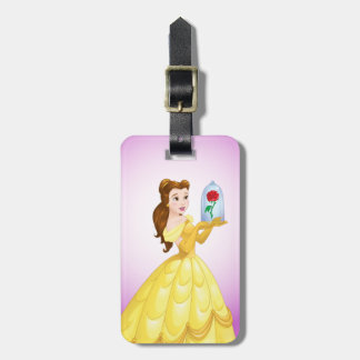 Belle | Rose In Glass Luggage Tag