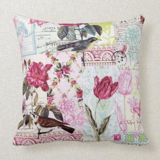 Belle Rose Pink Throw Pillow