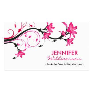 Belle télécarte florale de maman : : blanc/rose modèles de cartes de visite