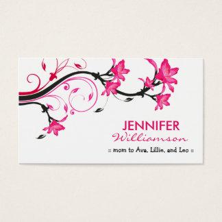 Belle télécarte florale de maman : : blanc/rose cartes de visite