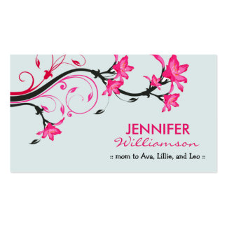 Belle télécarte florale de maman : : bleu/rose carte de visite standard