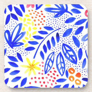 Belle Watercolour Floral Coaster Set