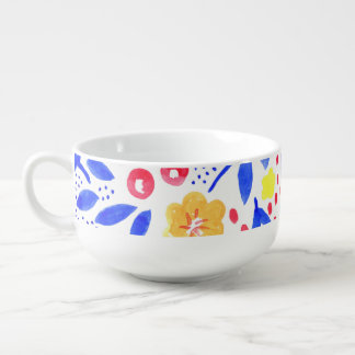 Belle Watercolour Soup Bowl