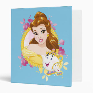 Belle With Mrs. Potts And Chip 3 Ring Binders