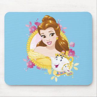 Belle With Mrs. Potts And Chip Mouse Pad