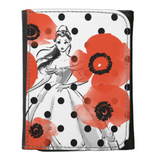 Belle With Poppies and Polka Dots Leather Wallets