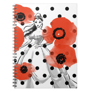 Belle With Poppies and Polka Dots Notebooks