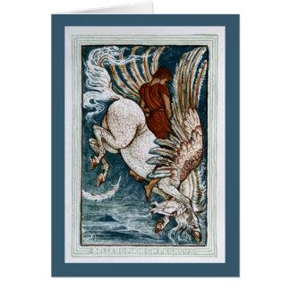 Bellerophon on Pegasus Greeting Card