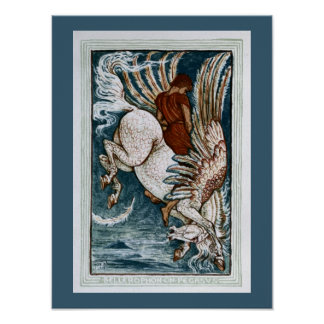 Bellerophon on Pegasus Poster