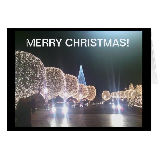 Belles cartes de lumières de Noël