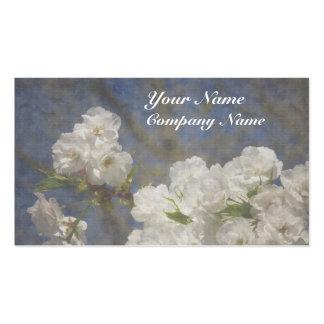 Belles fleurs blanches élégantes carte de visite standard