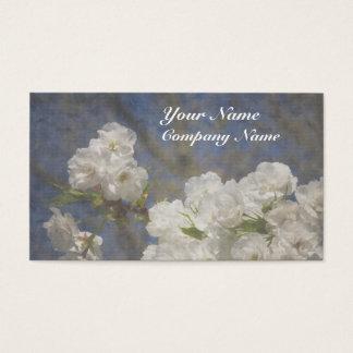 Belles fleurs blanches élégantes cartes de visite