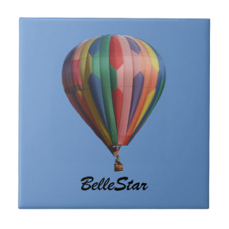 BelleStar Hot Air Ballooon Tile with Name