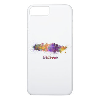 Bellevue skyline in watercolor iPhone 8 plus/7 plus case