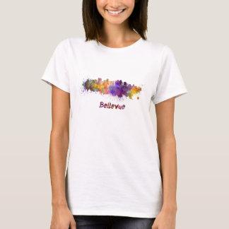 Bellevue skyline in watercolor T-Shirt