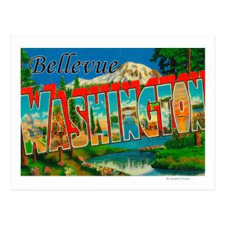 Bellevue, Washington - Large Letter Scenes Postcard