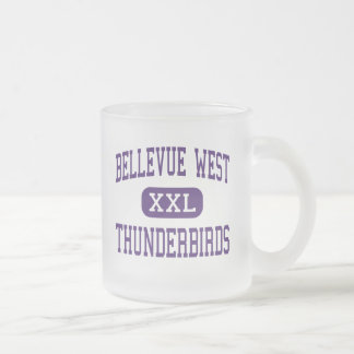 Bellevue West - Thunderbirds - High - Bellevue Frosted Glass Coffee Mug