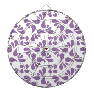 Bellflower Violet And White Graphic Art Pattern Dartboard