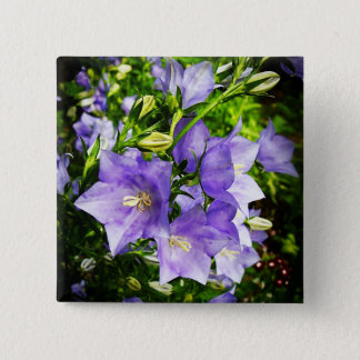 Bellflowers 2 Inch Square Button