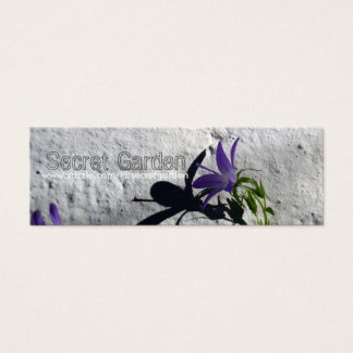 Bellflowers on wall for gardeners Business card