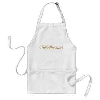 bellissimo. Golden gradient text. Standard Apron