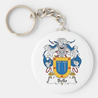 Bello Family Crest Keychain
