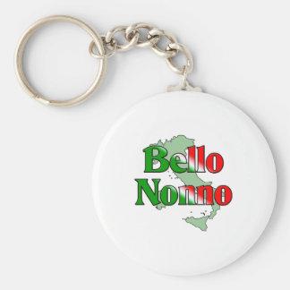Bello Nonno (Handsome Italian Grandfather) Keychain