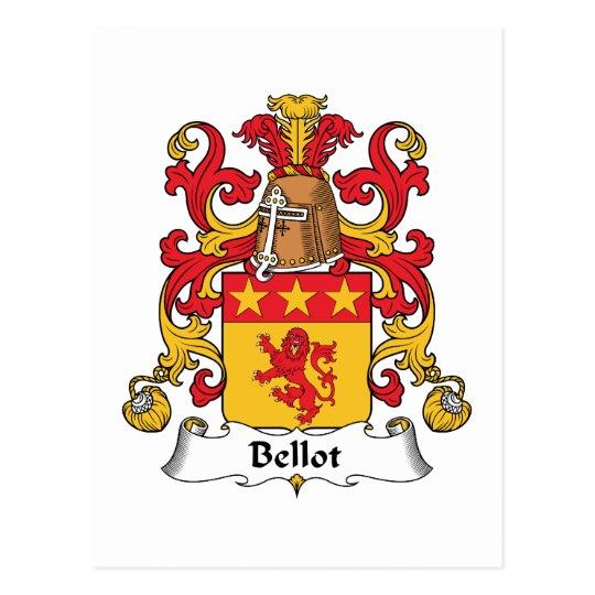 Bellot Family Crest Postcard