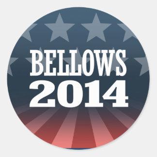 BELLOWS 2014 ROUND STICKER