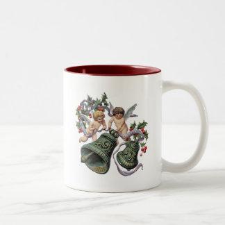 Bells and Angels Two-Tone Coffee Mug