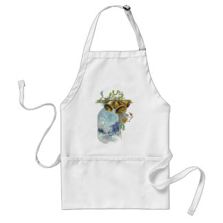 Bells and Winter Scene Apron