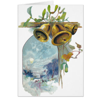 Bells and Winter Scene Greeting Card