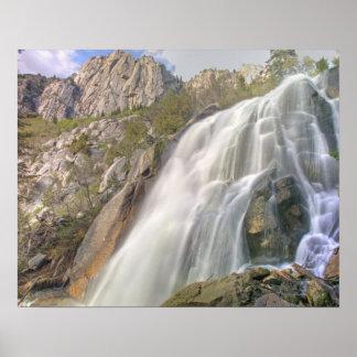 Bells Canyon Waterfall, Lone Peak Wilderness, Poster