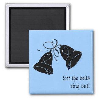 Bells de bonheur magnet carré