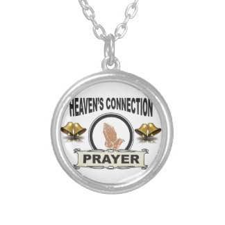 Bells heavens connection silver plated necklace