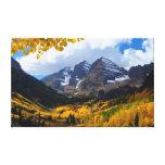 Bells marron en or d'automne toile tendue sur châssis