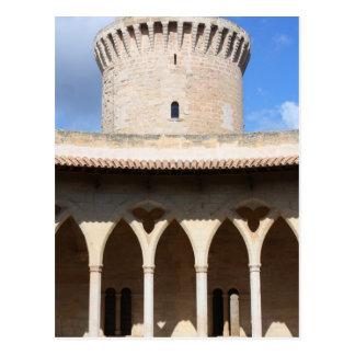 Bellver castle top postcard