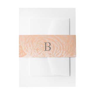 Belly Bands Vintage Rose Pastels: Peach Quartz Invitation Belly Band