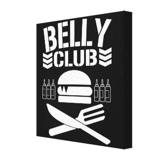 BELLY CLUB CANVAS PRINT