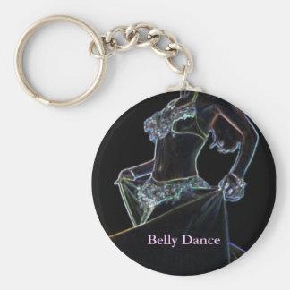 Belly Dance black Keychain
