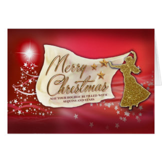 Belly Dance Merry Christmas Card