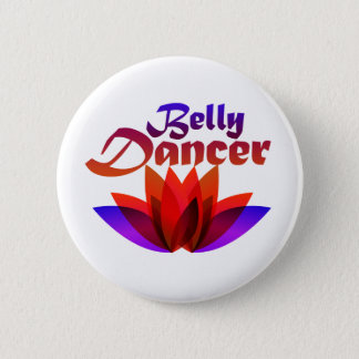Belly Dancer Lotus 2 Inch Round Button